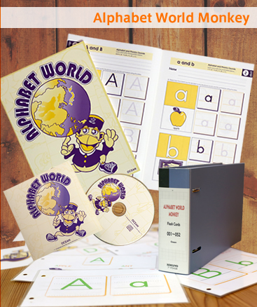 Alphabet World Monkey